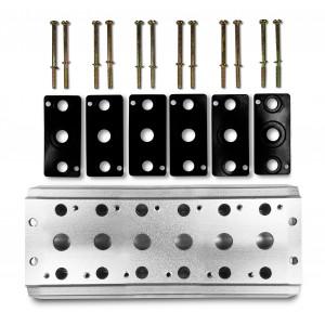 Collettore per collegare 6 valvole 1/4 serie 4V2 4A gruppo elettrovalvola 5/2 5/3