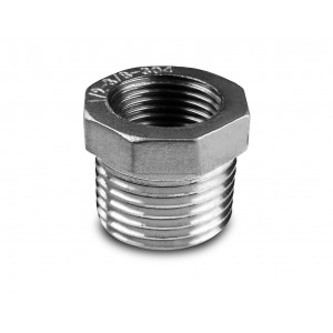 Riduzione in acciaio inox 1 1/2 - 1 1/4 di pollice