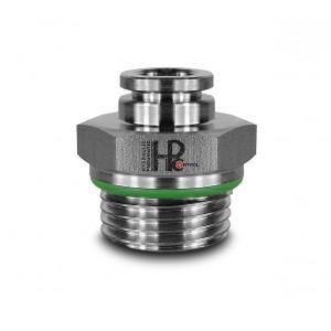 Tubo capezzolo tubo dritto in acciaio inox 8mm filetto 3/8 pollici PCS08-G03