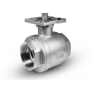 Valvola a sfera in acciaio inox DN40 da 1 1/2 pollice con piattaforma di montaggio ISO5211