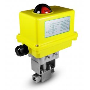 Valvola a sfera alta pressione 1/2 pollice SS304 HB22 con attuatore elettrico A250