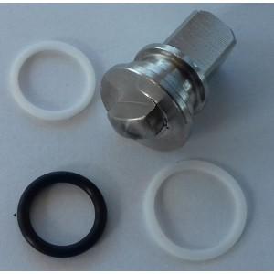 Kit di riparazione per valvola 3 vie ad alta pressione 3/8 e 1/2 cala ss304 HB3