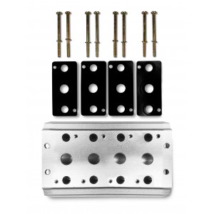 Piastra di raccolta per collegare 4 valvole serie 4V2 4A gruppo valvola 5/2 5/3