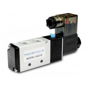 Elettrovalvola a cilindri pneumatici 4V210 5/2 1/4 230V 12V 24V