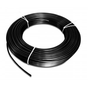 Tubo pneumatico in poliammide PA Tekalan 6/4 mm 1m nero