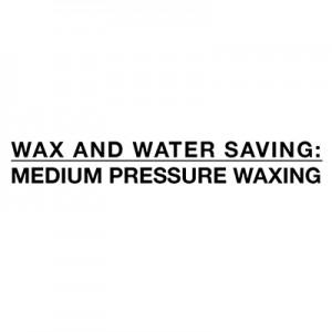 Risparmio di acqua e cera - media pressione di ceretta