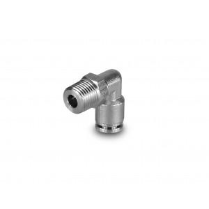 """Tubo flessibile in acciaio inox ad angolo con filettatura da 8 mm, 1/4 """"PLSW08-G02"""