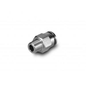 Raccordo nipplo dritto tubo in acciaio inossidabile 16mm filettatura 1/2 pollice PCSW16-G04