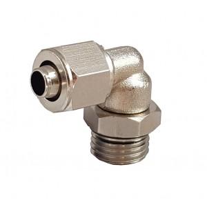 Raccordi rapidi per tubo 6/4 con gomito filettato 1/8 pollici RPL 6/4-G01