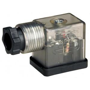 Attacco per elettrovalvola DIN 43650B con LED - piccolo