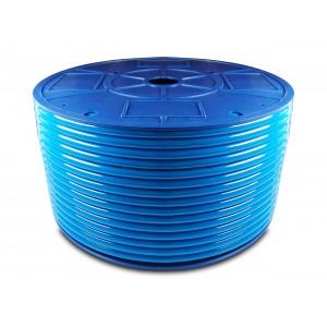 Tubo pneumatico in poliuretano PU 6/4 mm 100m blu