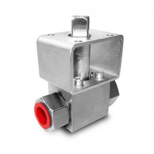 """Valvola a sfera alta pressione 1/4 """"SS304 HB22 piastra di montaggio ISO5211"""