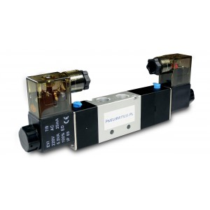 Elettrovalvola 5/3 4V430C 1/2 pollici per attuatori pneumatici 230V o 12V, 24V