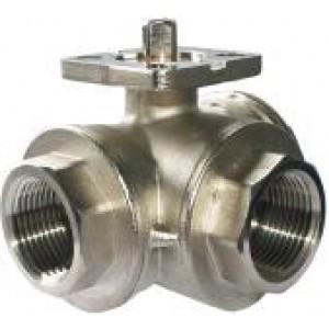 Valvola a sfera a 3 vie Piastra di montaggio DN25 da 1 pollice ISO5211 industriale