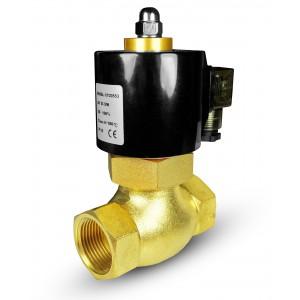 Elettrovalvola per vapore e alta temperatura. 2L20 3/4 pollici180 ° C