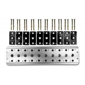 Collettore per collegare 10 valvole 1/4 serie 4V2 4A gruppo elettrovalvola 5/2 5/3