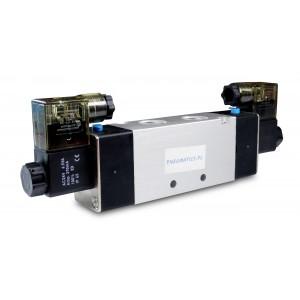 Elettrovalvola 4V220 5/2 1/4 pollici per cilindri pneumatici 230V o 12V, 24V