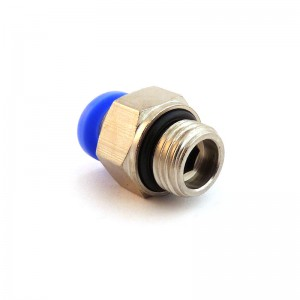 Tubo flessibile capezzolo tubo diritto 10mm filetto 3/8 pollici PC10-G03