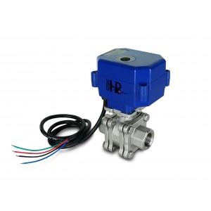 Valvola a sfera 1/2 pollice in acciaio inossidabile PN125 con attuatore elettrico A80 o A82