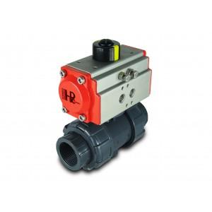 Valvola a sfera UPVC 2 pollici DN50 con attuatore pneumatico AT63