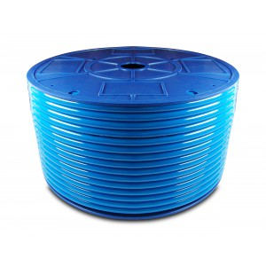 Tubo pneumatico in poliuretano PU 6/4 mm 1m blu