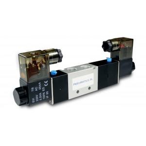 Elettrovalvola 5/3 4V230P 1/4 pollici per cilindri pneumatici 230V o 12V, 24V
