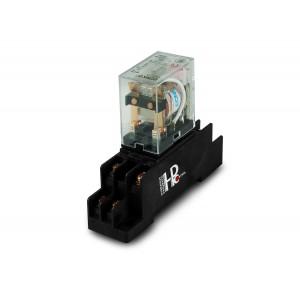 Relè 10A 2x NO / NC con una base per il montaggio su una guida DIN