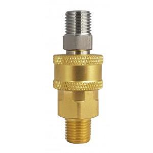 Connettore rapido ad alta pressione con filettatura esterna da 1/4 di pollice